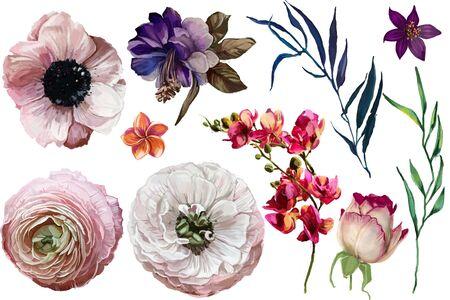エキゾチックな花と設定します。