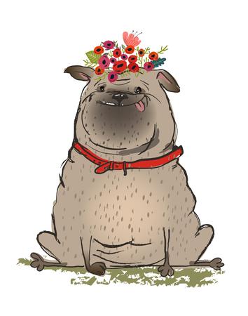 cute cartoon dog Stok Fotoğraf