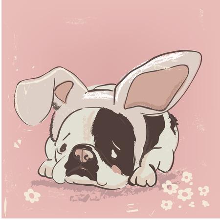 cute cartoon dog Çizim