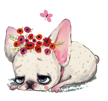 cute cartoon dog Stock Photo