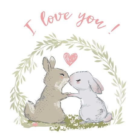 cute hares couple