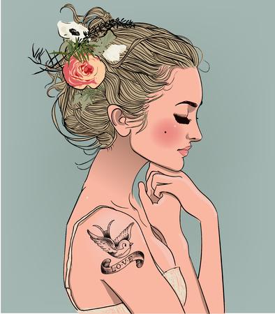 Young beautiful woman.
