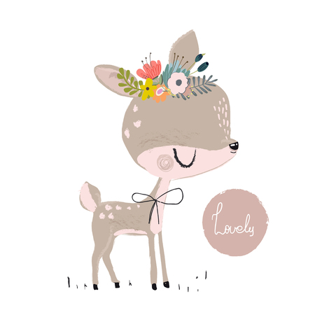 Cute summer deer