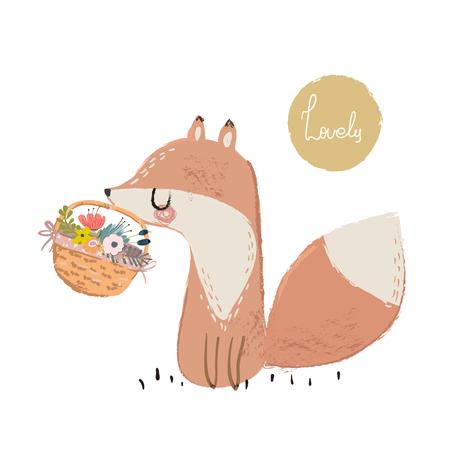 Cute summer fox