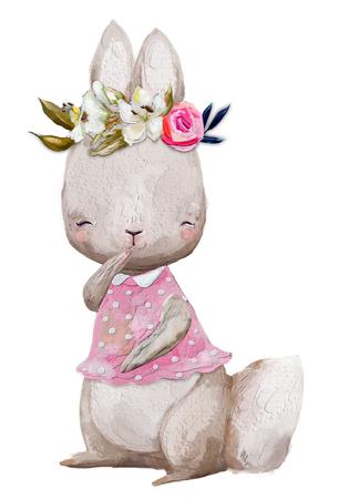 cute summer hare