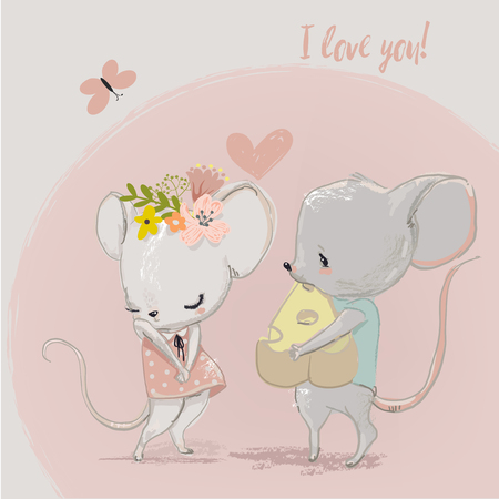 Cute mouse couple
