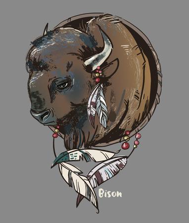 Bison head icon