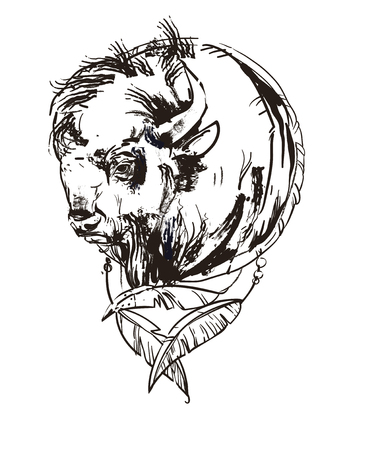 Bison head icon