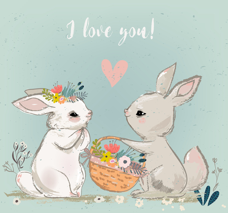 cute hares couple