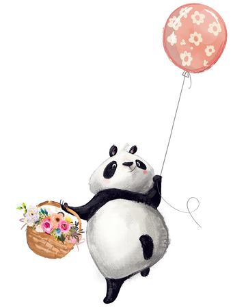 Little Panda with balloon