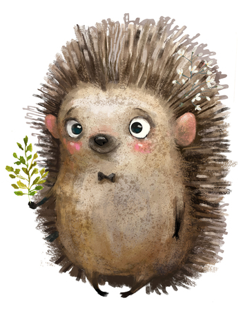 little cartoon hedgehog Imagens - 119913661