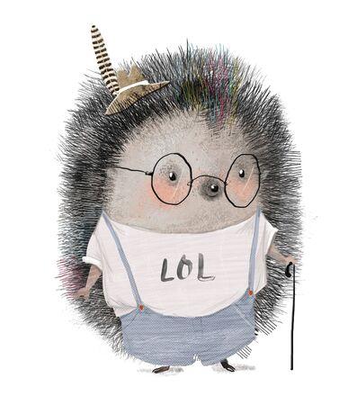 cute little Hedgehog boy character
