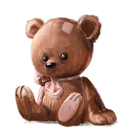 cute teddy bear with pink bow