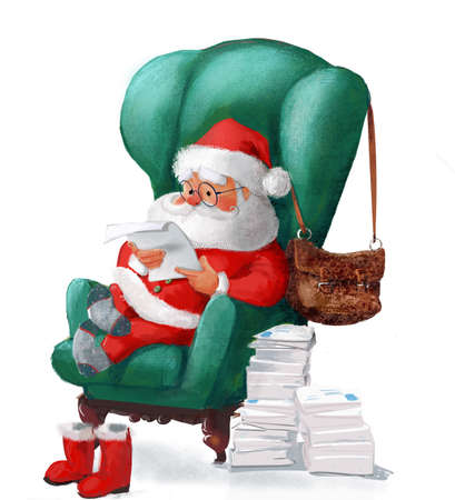 cute Santa on the armchair