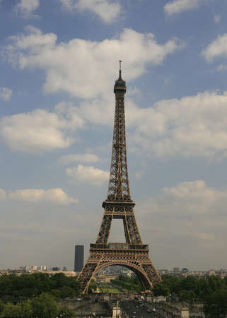 The Eiffel Tower in direction Monparnasse photo
