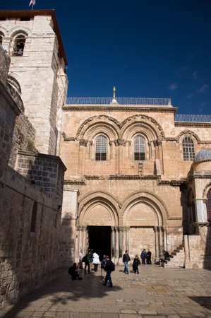 church of the holy sepulchre: The Church of Holy Sepulchre in Jerusalem Stock Photo
