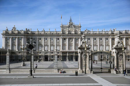The vast cobbled courtyard of the Palacio Real, the Plaza de Armer
