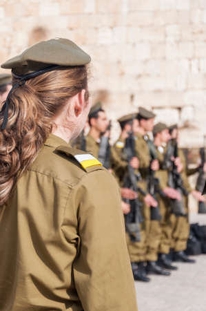 Jerusalem, Israel-Palestine - June 21, 2011  Participants in the Israeli Army