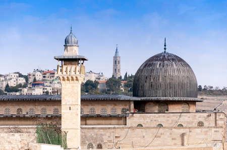 al aqsa: Al-Aqsa Mosque in the Old City of Jerusalem, Israel Stock Photo