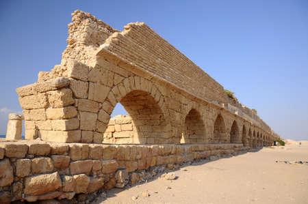 Roman Arches in Cesarea Archivio Fotografico
