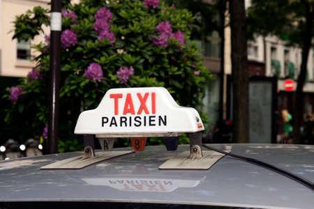 Cab sign in Paris photo