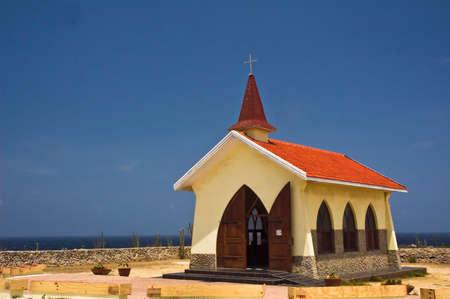 noord: Alto Vista Church, Noord - Aruba Stock Photo