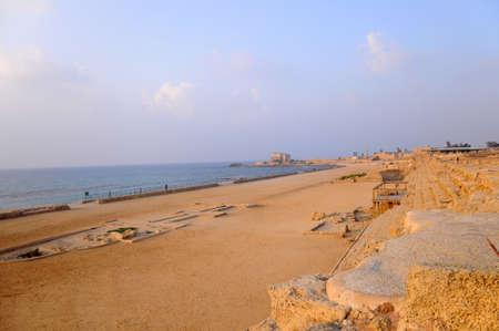ceasarea: Hippodrome of Cesarea Maritime, Israel Stock Photo