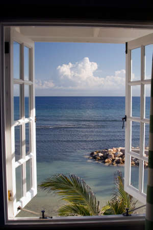 meer: Caribbean View, Jamaica Stock Photo