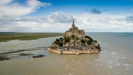 The famous french landmark Mont Saint Michel 스톡 콘텐츠
