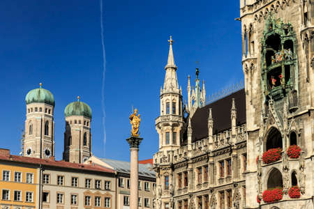 Munich Marienplatz, City Center Stock Photo