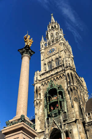 City Center: Marienplatz in Munich Stock Photo