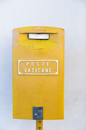 Postbox of the Vatican Postal Service Фото со стока