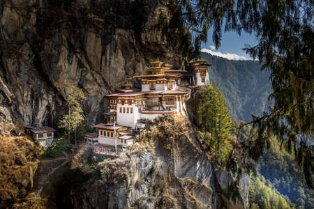 Tigers nest monastery near Paro, Bhutan Stock Photo