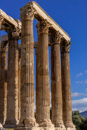 roman pillar: Greek columns in Athens