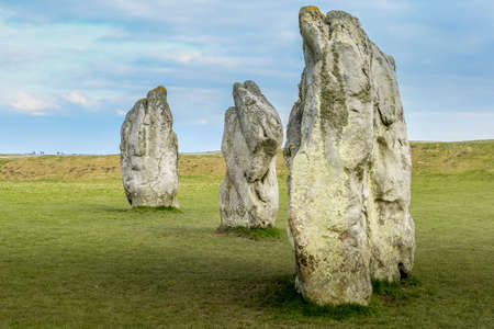 Famous megalith menhirs in UK