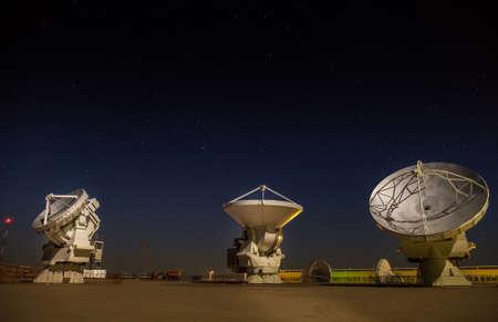 Tre antenne paraboliche sono state testate presso la stazione di base di ALMA