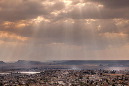 Dramatic sky over the city of Maseru