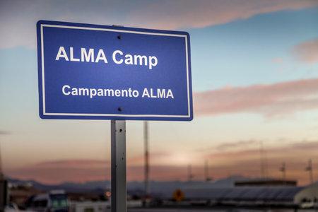 ALMA CAMP, ATACAMA DESERT, CHILE - FEB. 15, 2011: ALMAs base camp Editorial
