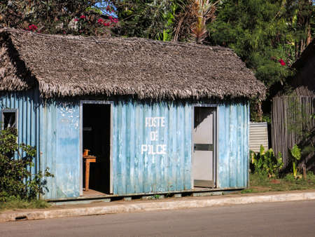 Malagasy Police station in Hell-Ville , Nosy Be Island, Madagascar.