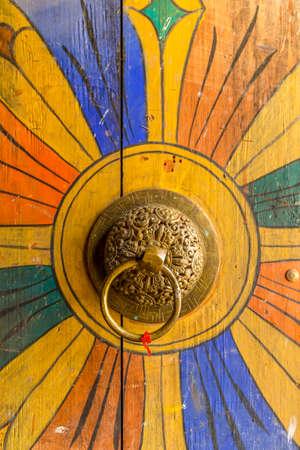 Bhutanese door knob at Trongsa Dzong