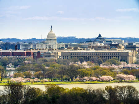 Skyline of Washington DC. with the United States Capitol 写真素材