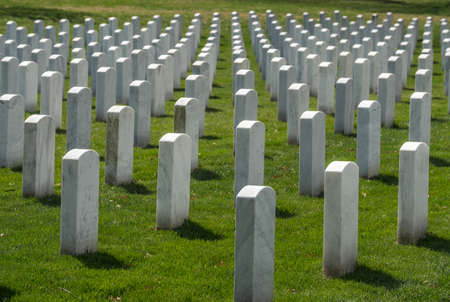 Gravestones on Arlington National Cemetery in Washington DC.