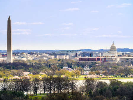 The Washington Monument with United States Capitol