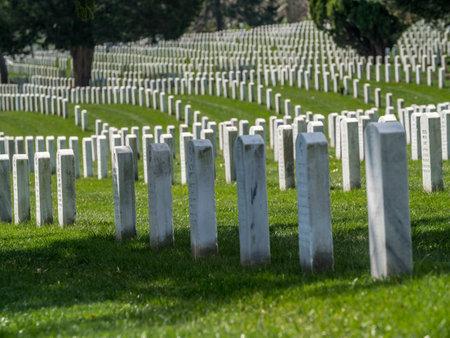华盛顿阿灵顿国家公墓的墓碑。