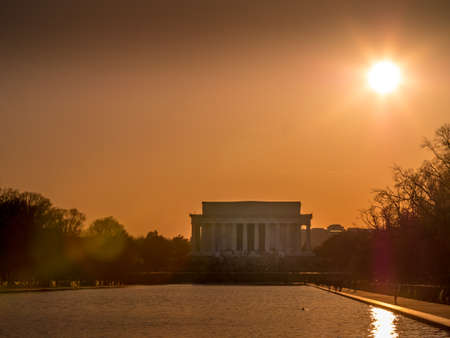 Lincoln Memorial right before sunset 스톡 콘텐츠
