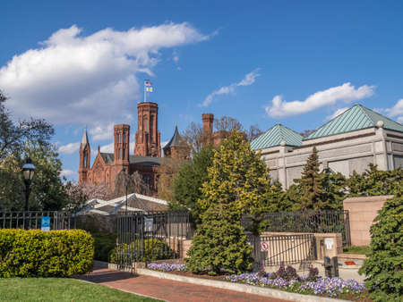 Smithsonian Institution Building with its garden