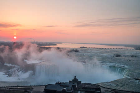 Spectacular sunrise at Niagara Falls