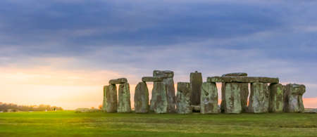 The famous Stonehenge around Fall