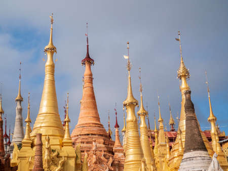 Shwe Inn Dain Pagoda, Inle lake, Myanmar Stock Photo