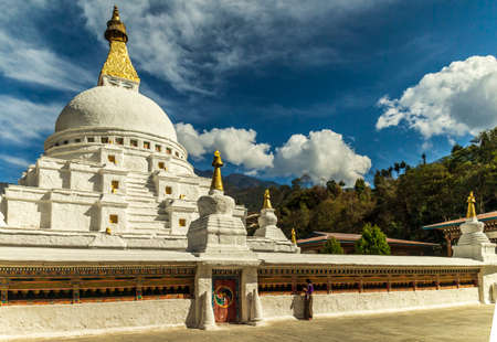 Chorten Kora in Trashiyangtse, Eastern Bhutan. Stock Photo